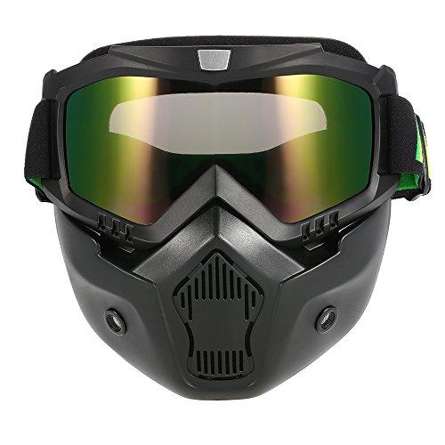 KKmoon Gafas Desmontable Máscara del Moto Filte de Boca para Cascos Abierto