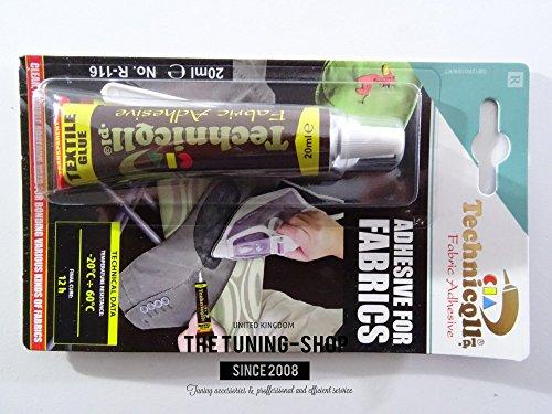 CLEAR ELASTIC STRONG ADHESIVE GLUE FABRICS COTTON, DENIM, FELT, JUTE, CANVAS High Quality new by Technicqll