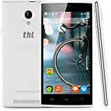 "THL T6C - Smartphone Movil Libre Android (5.0"" Pantalla, 3G, Dual Sim, Quad Core, 8Gb Rom 1Gb Ram, Pantalla 854x480p, 8Mp, GPS WIFI Bluetooth, Multi-Idioma), Blanco"