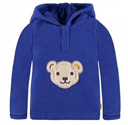 Steiff Fleecepullover Größe 104 blau mit Kapuze und Quietscher Kinderpullover