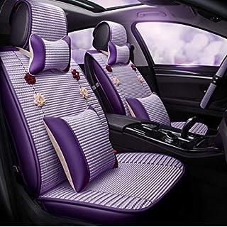 Y&Jack Autositzbezug All-Inclusive-Neuwagen-Ledersitz Cool Pad Auto-Matte Four Seasons Universal Summer Spezial Ice Silk Kissenbezug für die meisten Fünfsitzer,C
