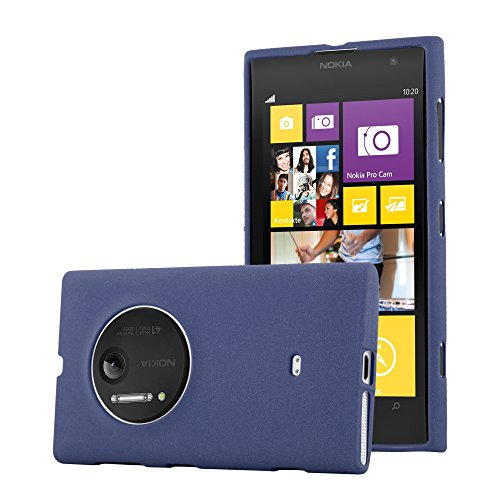 Preisvergleich Produktbild Cadorabo Hülle für Nokia Lumia 1020 - Hülle in Frost DUNKEL BLAU – Handyhülle aus TPU Silikon im matten Frosted Design - Silikonhülle Schutzhülle Ultra Slim Soft Back Cover Case Bumper