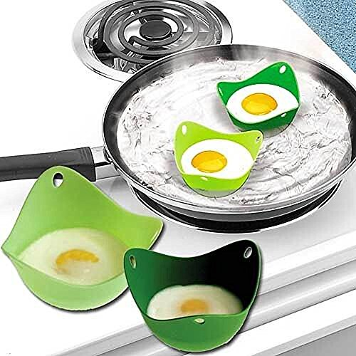 Egg Moulds - Silicone Egg Poacher Cups Molds - Poaching Pods For Cooking Perfect Poached Eggs - For Microwave or Stovetop - Cooking Accessories Bake-ware Accessories Kitchen Tools - BPA free, FDA approved, 100% food grade silicone By KARP - Set Of 5