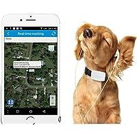 TKSTAR Rastreador GPS Mascotas Mini GPS Tracker Impermeable Localizador GPS Perros GPS para Mascotas en Tiempo Real, Seguimiento y Monitorización con App Online (para Android y iOS) TK911