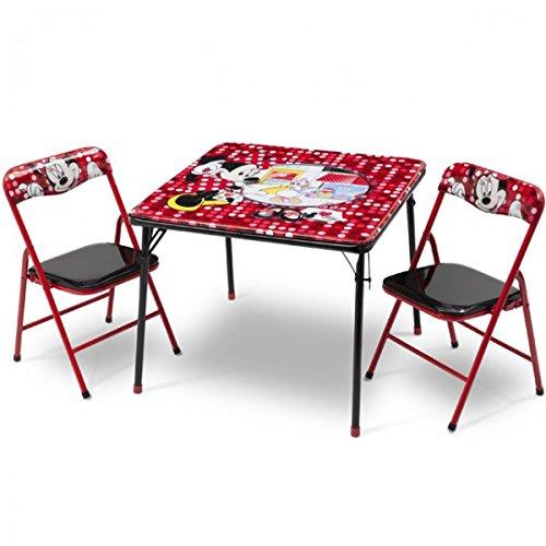 Disney Minnie Mouse Kindersitzgruppe Sitzgruppe Klapptisch Klappstuhl KIndermöbel Tisch + 2 Stühle NEU