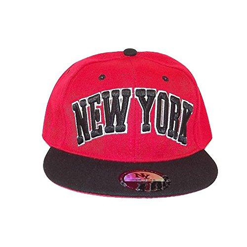 Chapeau-tendance - Casquette New-York Rouge et Noir - - Homme