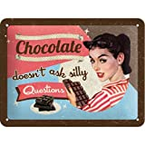 Nostalgic-Art 26109 Say it 50's - Chocolate Doesn't Ask, Blechschild 15x20 cm