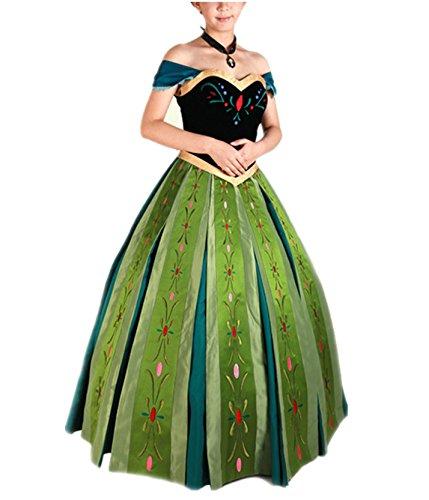 Beunique® Prinzessin Kostüm Damen Glanz Kleid Ladies Weihnachten Verkleidung Karneval Party Halloween Fest Cosplay Set