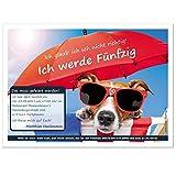 witzige Einladung zum Geburtstag - mit Ihrem Text - jedes Alter möglich - 30. 40. 50. 60., 30 Karten - 17 x 12 cm