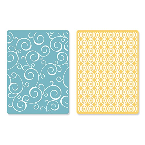 sizzix-textured-impressions-embossing-folders-swirls-and-squares-in-ovals-by-sb-pack-of-2-multi-colo