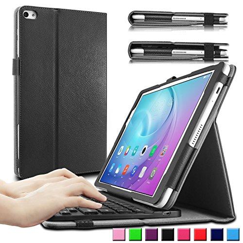 HuaWei MediaPad T2 10.0 Pro keyboard Tastatur Hülle, Infiland Bluetooth Tastatur Ultradünn leicht Shell Ständer Schutzhülle mit magnetisch abnehmbar drahtloser Bluetooth Tastatur für Huawei MediaPad T2 10.0 Pro 25,7 cm (10,1 Zoll) IPS Tablet PC(QWERTZ Tastatur,Schwarz)