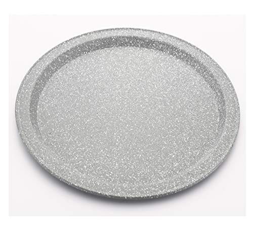 Femora Baking Pizza Pan Plate Stone Ware Cotaing Carbon Steel Non-Stick, 26 cm- 1 Year Warranty on Coating