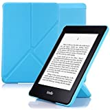 Nouske Funda origami para Kindle Paperwhite de Amazon, azul
