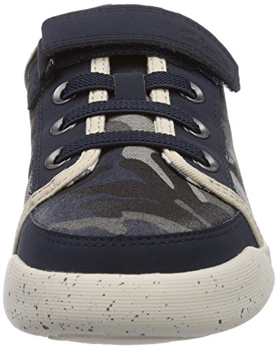 Clarks Kintor Go Jnr Jungen Sneakers Blau (Navy/Multi)