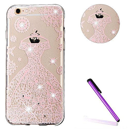 iPhone 6S Coque Silicone,iPhone 6S Coque Transparente,iPhone 6S Coque Antichoc,Coque Housse Etui pour iPhone 6 / 6S,EMAXELERS iPhone 6S Silicone Case Slim Gel Cover,iPhone 6 Coque en Silicone Ultra-Mi S TPU 13