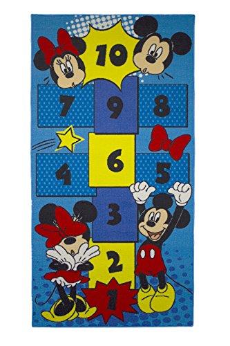 Mickey-mouse-zahlen (Kinder Teppich Kinderteppich mit Mickey Mouse - Micky Maus - Hüpfteppich - Zahlen Teppich - 80 x 160 cm)