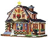 Lemax Casa con persone che la decorano per Natale - Decorating the house