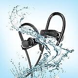 Auriculares Bluetooth Correr SPARIN Auriculares deportivos Bluetooth 4.1+EDR Inalámbrico con Sonido Estéreo, Diseño con Micrófono de IPX7 Impermeable Resistir al Sudor Cancelación de Ruido para Correr