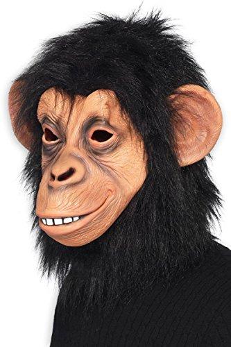 Und Kostüm Affen Bananen - Close Up Schimpansen Maske für Erwachsene