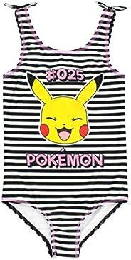 Pokèmon Traje de baño niñas Pikachu Traje de baño Blanco y Negro niños