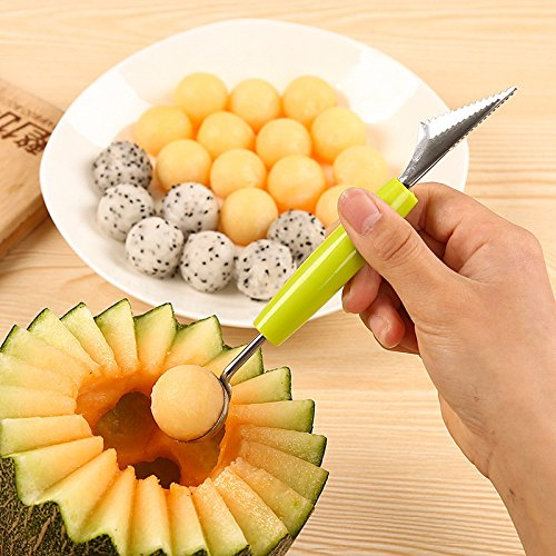 Creative Ice Cream Dig Ball Scoop Spoon Baller DIY Assorted Cold Dishes Tool Watermelon Melon Fruit Carving Knife Cutter Gadge Melon Scoop Ball