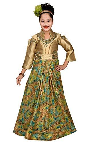 Evening Gown ( FLOOR TOUCH)-Flower girl dress,for kids - FANCY, Party wear-long...