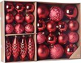 made2trade 31 teiliges Weihnachtsbaumschmuck Set - Rot