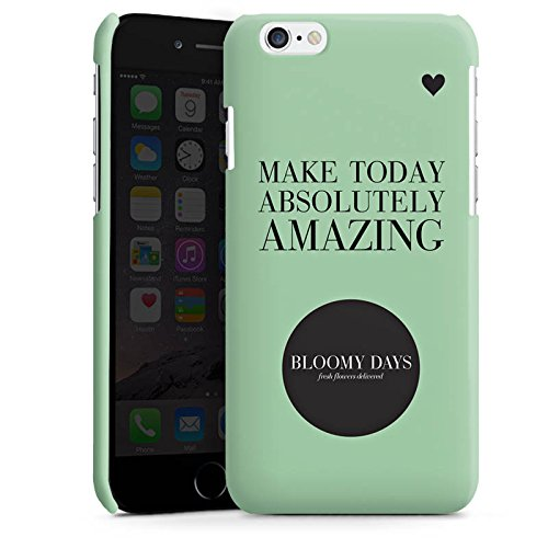 Apple iPhone 5s Housse Étui Protection Coque Fleurs amour C½ur Phrases Cas Premium brillant