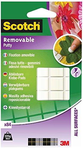 Scotch Gommini Adesivi Rimovibili per Attaccare Oggetti Leggeri, 8 mm x 10 mm