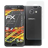 atFolix Folie für Samsung Galaxy A3 (2016) Displayschutzfolie - 3er Set FX-Antireflex-HD hochauflösende entspiegelnde Schutzfolie