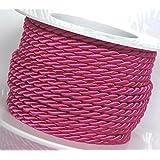 Cordón 15m x 4mm rosa–fucsia elástico cuerda banda Regalos rollo de cinta Curling Ribbon Cable Cable giratorio