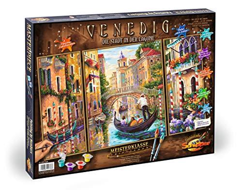Schipper 609260736 Malen nach Zahlen Venedig, Die Stadt in der Lagune, Triptychon, 40 x 80 cm 609260736-Malen, 50 x 80 cm