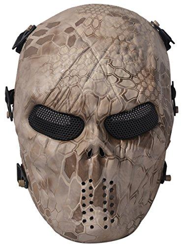 Coofit Airsoft Maske Coole Maske Staub Halloween Masken für Männer (One Size, Multicolor) (Beste Halloween Maske)