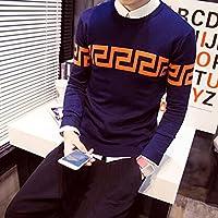 Men's Fashion Spritech (TM)-Custodia sottile per il massimo Comfort, motivo: maglione a girocollo, maglia Base, Style-1, xxl