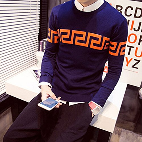 spritech-tm-hombre-otono-slim-fit-tejer-fashion-cuello-redondo-pullover-sweater-base-camisa