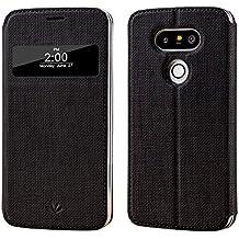 Meiya  - Funda de piel sintética para LG G5 (con ventana Vista Smart, función de suspensión y activación magnética), compatible con LG G5