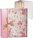 Unbekannt XL Fotoalbum - edel - Blüten & Blumenranken - Rose - Gebunden zum Einkleben - blanko weiß - groß - 100 Seiten für bis zu 600 Bilder - 10x15 - Gästealbum /..