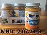 6 x 190g Humana Karotten mit Kartoffeln & Lachs 8.Monat 100% Organic/MHD: 12.07.2018/0,49€ je 100g