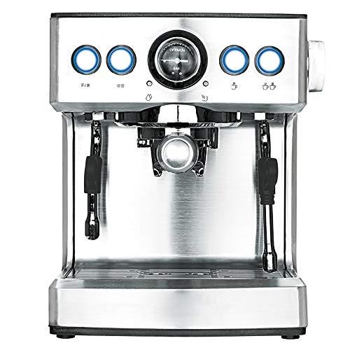 Espressomaschine & Cappuccino-Cremesystem Kaffeemaschine mit Milchkocher Düse Manometer Heizschale Dual Cup Sever und Heißwasserauslauf für Kaffee Latte Mokka oder Tee