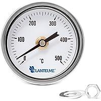 Lantelme - 500 ° c grado horno leña bimetálico y horno horno barbacoa termómetro analógico. diámetro 67 mm y 15 cm de largo