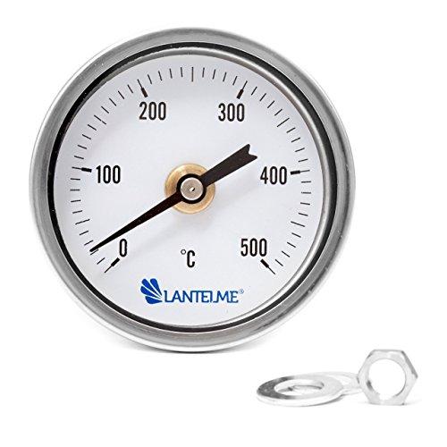 Lantelme 500 °C Grad Backofen Holzbackofen Ofen Grill Thermometer Analog und Bimetall Durchmesser 67 mm und 15 cm lang