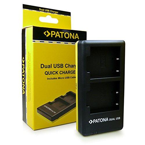 PATONA Dual Chargeur NP-W126 pour Batterie Fuji FinePix X-Pro 1 HS-30EXR HS-33EXR avec micro USB