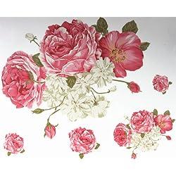 GGSELL Mode neuesten Design extra großes Tattoo für Rücken rosa Blume Tätowierung Aufkleber