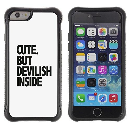Graphic4You Answer Promptly With A Smile Englisch Zitat Nachricht Shockproof Anti-Rutsch Weichen Hülle Case Tasche Schutzhülle für Apple iPhone 6 / 6S Design #5