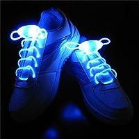 Bluelover LED Shoelace Night Running Light Up Safety Shoestring Multicolor Luminous Shoelace -Blue