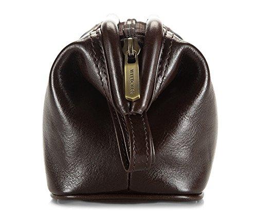 Wittchen Kosmetiktasche | Farbe: Braun | Narbenleder | Höhe (cm): 12 x Breite (cm): 21 | Kollektion: Italy | 21-3-004-4 Braun