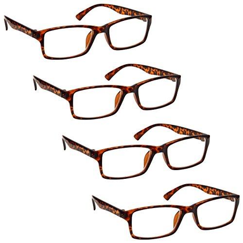 La Compañía Gafas De Lectura Marrón Carey Lectores Valor Pack 4 Hombres Mujeres RRRR92-2 Dioptria +2,50