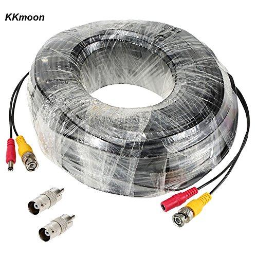 KKmoon 98ft (30m) BNC Cavo Siamese per Video Potenza per Kit Videosorveglianza DVR - Kit Cavo Di Sicurezza