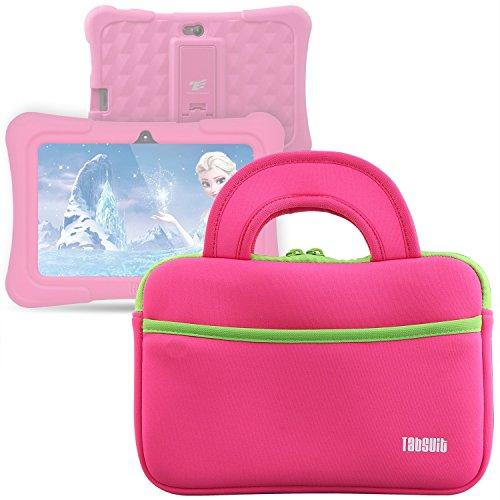 Tab Schutz Tasche für Dragon Touch Y88X Plus Kinder Tablet (Rosa)