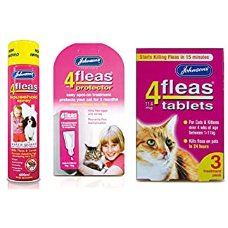 johnson's 4fleas cat & kitten (1-11kg) flea treatment bundle Johnson's 4Fleas Cat & Kitten (1-11kg) Flea Treatment Bundle 51ELXQFPTEL
